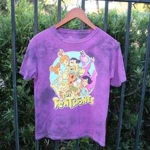 Flintstones Purple Tie Die T Shirt